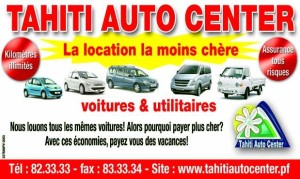 Location automobile tahiti auto center à Tahiti