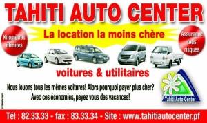 Location automobile tahiti auto center à Tahiti