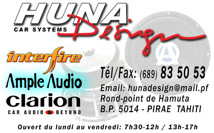 Tuning automobiles à Tahiti Huna Design